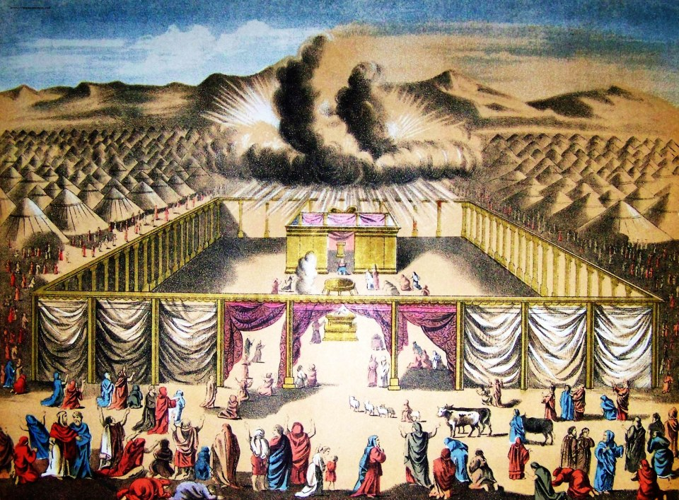 An artistic rendition of the Tabernacle