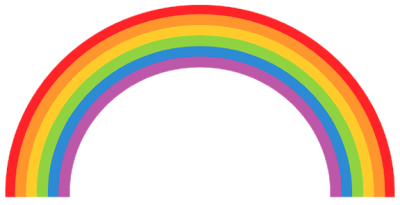The rainbow visually represents the inverse parallels of the chiastic structure