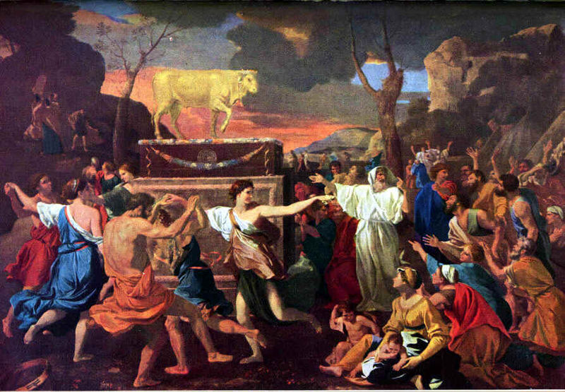 The Golden Calf as depicted by French Renaissance painter Nicolas Poussin