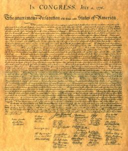 The American Declaration of Independence